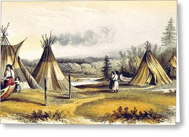Cree Indian Wigwams Greeting Card