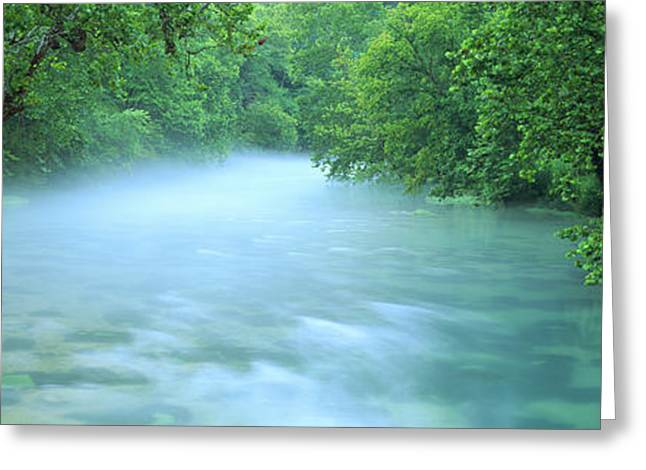 Creek Flowing Through A Forest, Ozark Greeting Card
