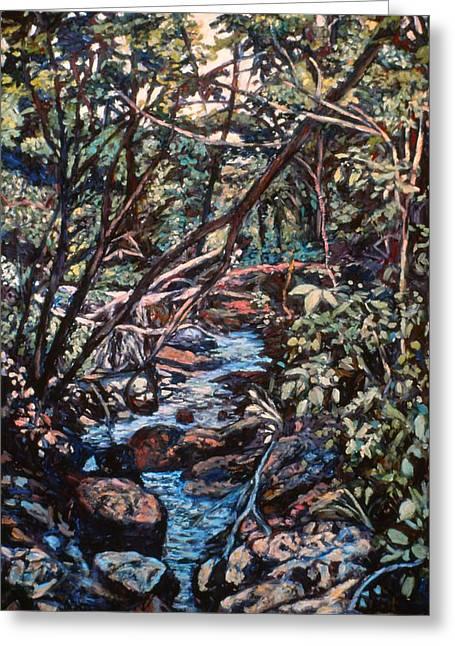 Creek Near Smart View Greeting Card by Kendall Kessler