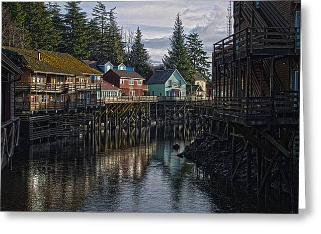 Creek St. Ketchikan Alaska Greeting Card by Timothy Latta