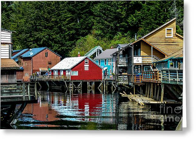 Creek Street - Ketchikan Alaska Greeting Card