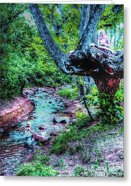 Greeting Card featuring the photograph Creek Time Enchantment by Lanita Williams