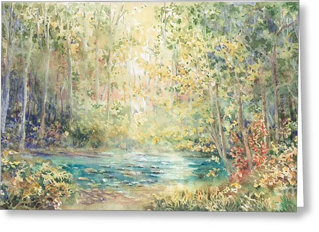 Creek Walk Greeting Card by Marilyn Young