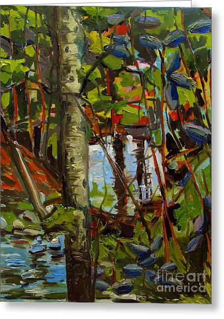 Creek Walking Greeting Card by Charlie Spear