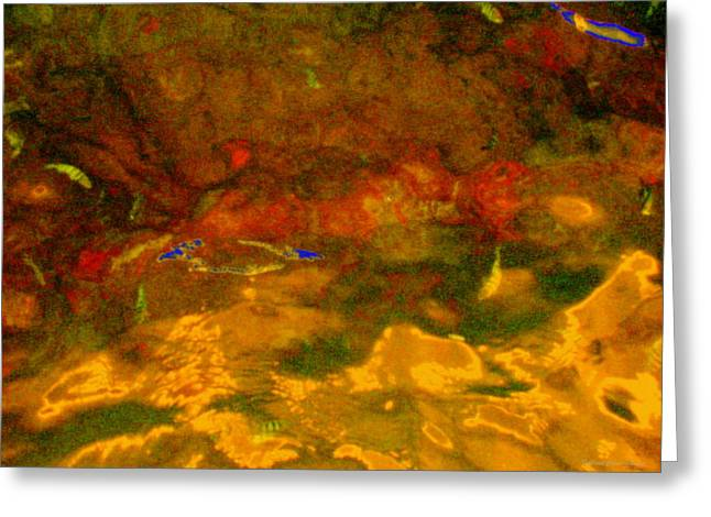 Creekwater Abstract 3 Greeting Card