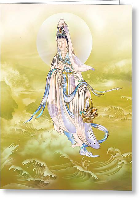 Greeting Card featuring the photograph Creel Kuan Yin by Lanjee Chee