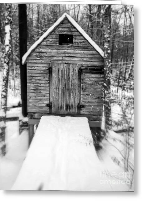 Creepy Cabin In The Woods Greeting Card by Edward Fielding