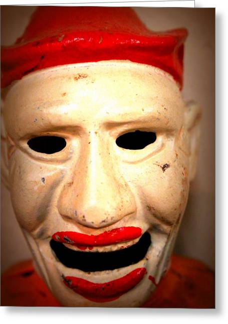 Greeting Card featuring the photograph Creepy Clown by Lynn Sprowl
