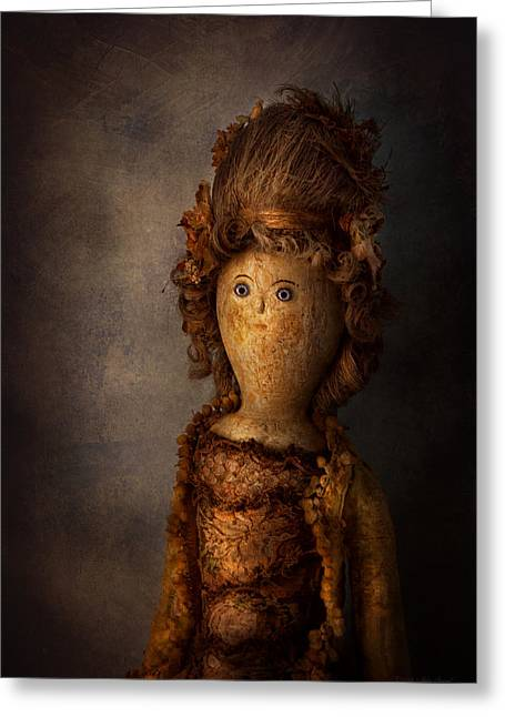 Creepy - Doll - Matilda Greeting Card by Mike Savad