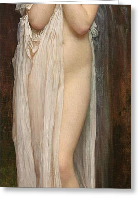 Crenaia The Nymph Of The Dargle Greeting Card by Frederic Leighton