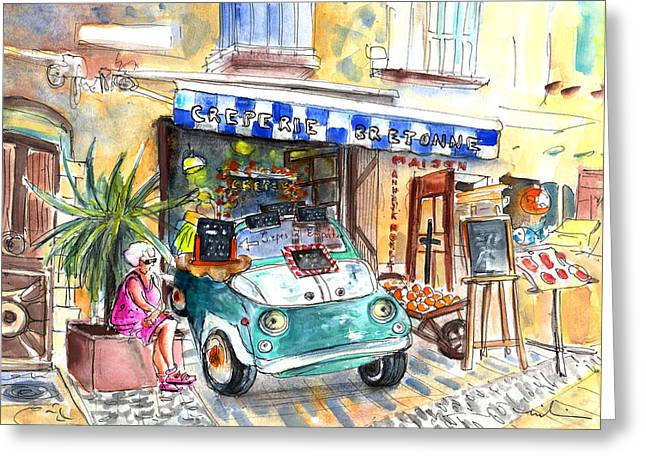 Creperie Bretonne In Collioure Greeting Card by Miki De Goodaboom