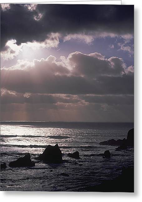 Crepuscular Rays Greeting Card