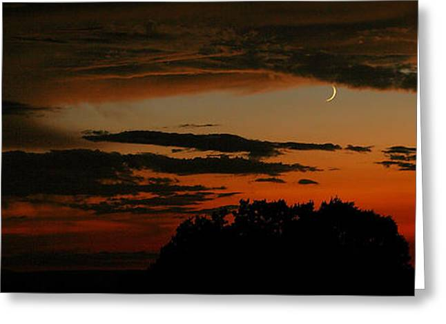 Crescent At Sunset Greeting Card