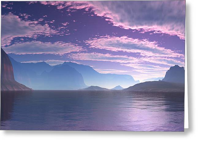 Crescent Bay Alien Landscape Greeting Card