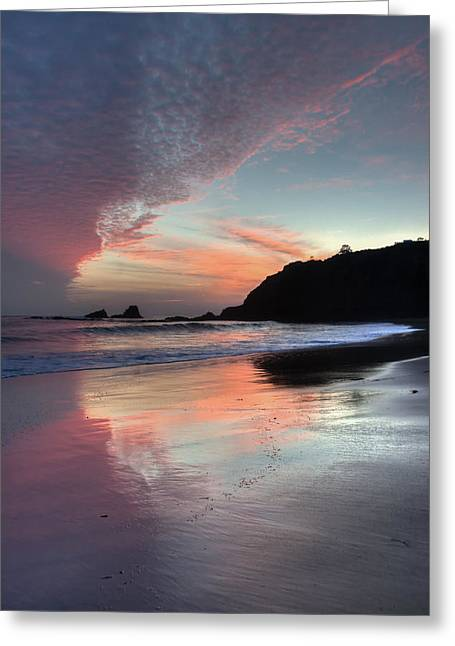 Crescent Bay Reflections Greeting Card