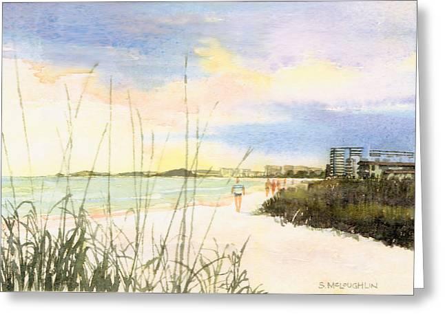 Crescent Beach Greeting Card by Shawn McLoughlin