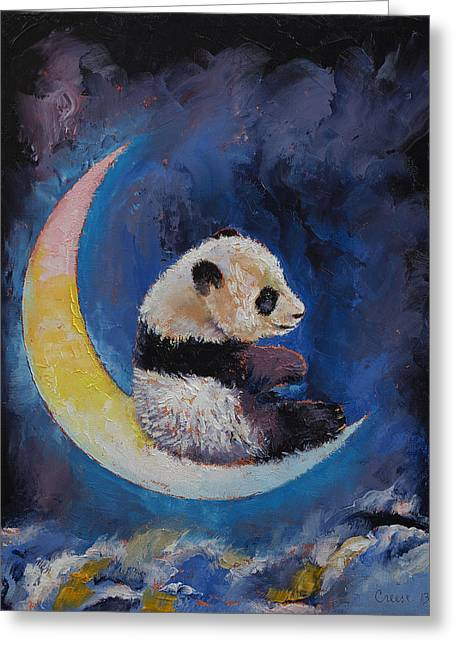 Crescent Moon Greeting Card by Michael Creese