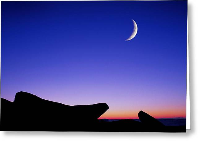 Crescent Moon Halibut Pt. Greeting Card