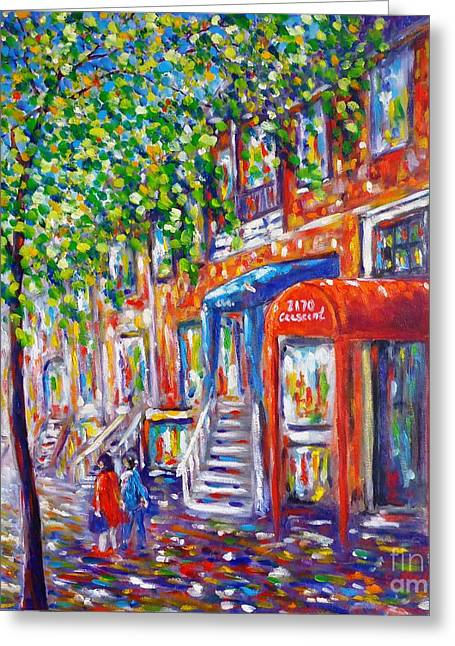 Crescent Street - Montreal Greeting Card