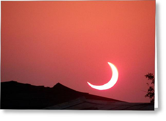 Crescent Sunset Greeting Card