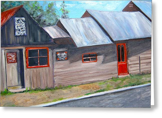 Crested Butte Alleyway Greeting Card