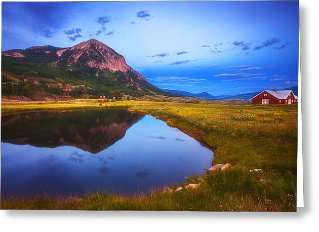 Crested Butte Morning Greeting Card by Darren  White