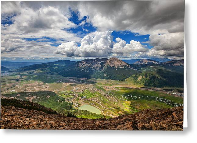 Crested Clouds Greeting Card by Darren  White