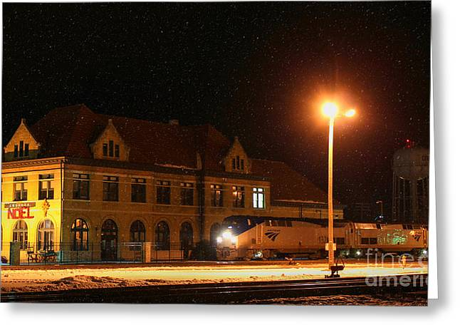 Creston Depot Greeting Card by Thomas Danilovich
