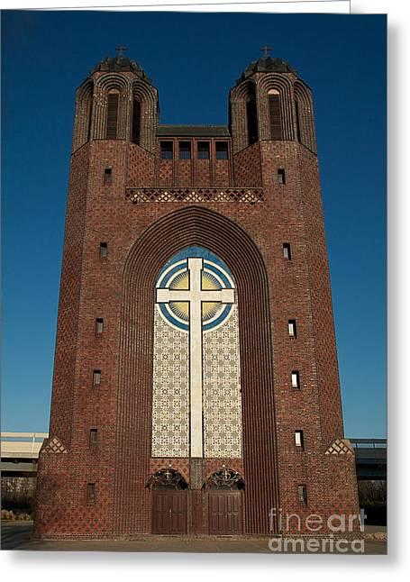 Crestovozdvijensky Sobor Kaliningrad Orthodox Church Greeting Card by Aleksey Tugolukov