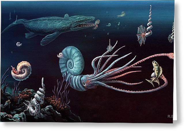Cretaceous Marine Animals Greeting Card