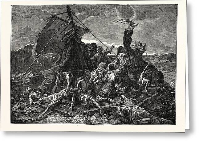 Crew Of The Medusa On The Raft Greeting Card