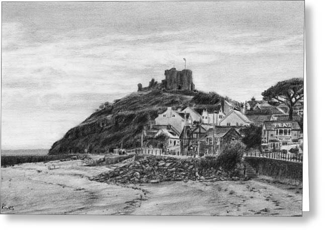 Criccieth Beach Wales Uk Greeting Card