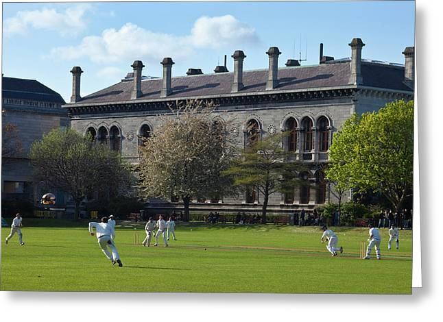 Cricket Match On College Park,with Greeting Card by Panoramic Images