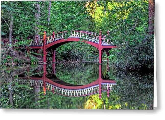 Crim Dell Bridge In Summer Greeting Card by Jerry Gammon