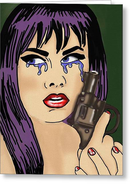 Crime Of Passion Greeting Card by Helen Bowman