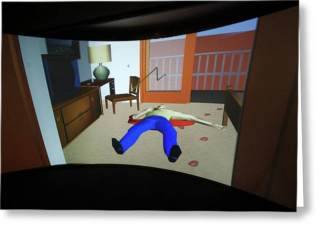 Crime Scene Reconstruction Greeting Card by Louise Murray/science Photo Library