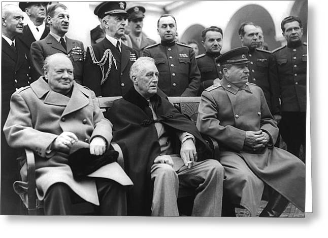 Crimean Conference In Yalta Greeting Card
