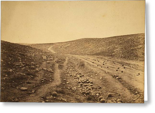 Crimean War 'valley Of Death' Greeting Card by Library Of Congress