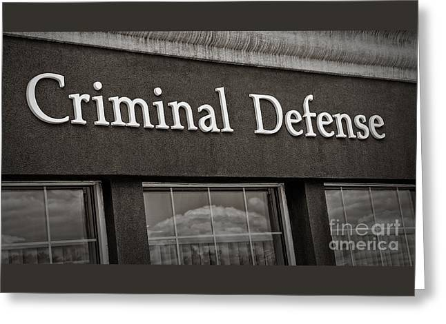Criminal Defense Law Practice Greeting Card