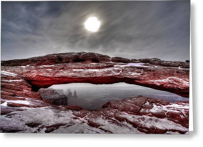 Greeting Card featuring the photograph Crimson Arch by David Andersen