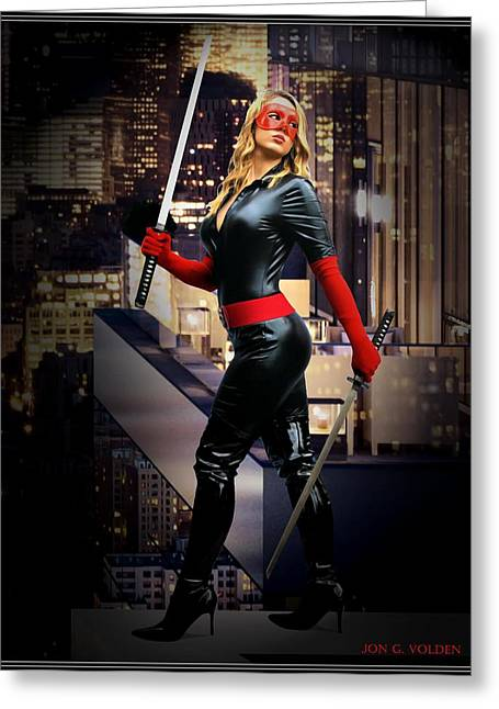 Crimson Avenger The Penthouse Watch Greeting Card