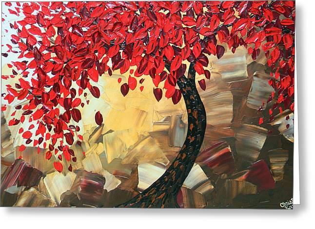 Crimson Beauty Greeting Card