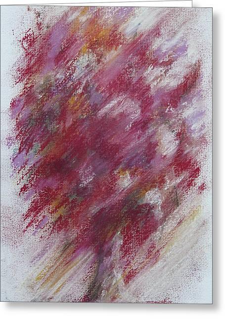 Crimson Bouquet Greeting Card