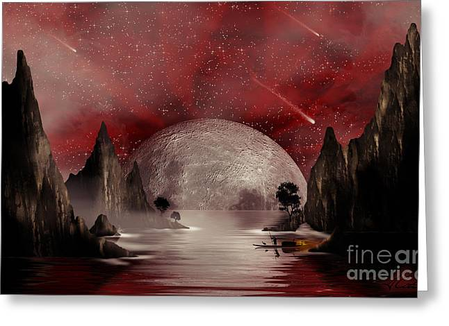 Crimson Night Greeting Card by Anthony Citro