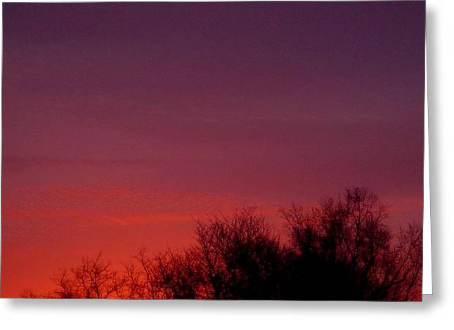 Crimson Sky Greeting Card