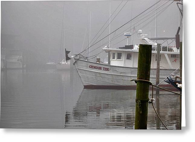 Crimson Tide In The Mist Greeting Card by Michael Thomas