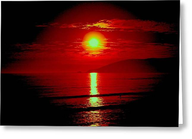 Greeting Card featuring the photograph Crimson Tide by Tamara Bettencourt