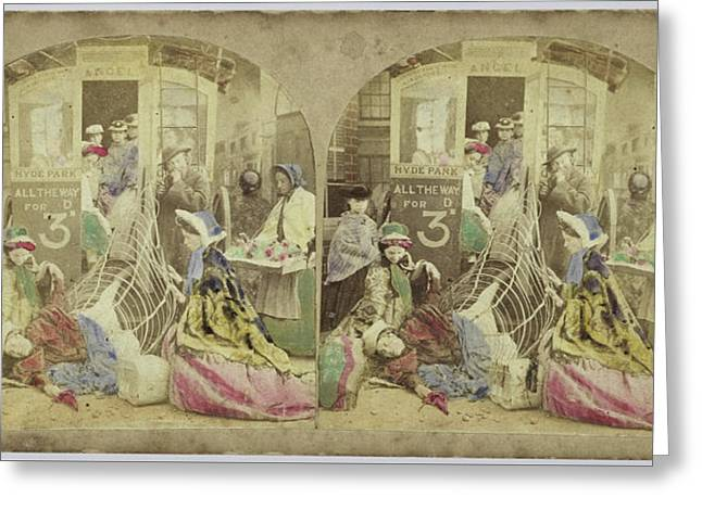 Crinoline Difficulties, Anonymous Greeting Card