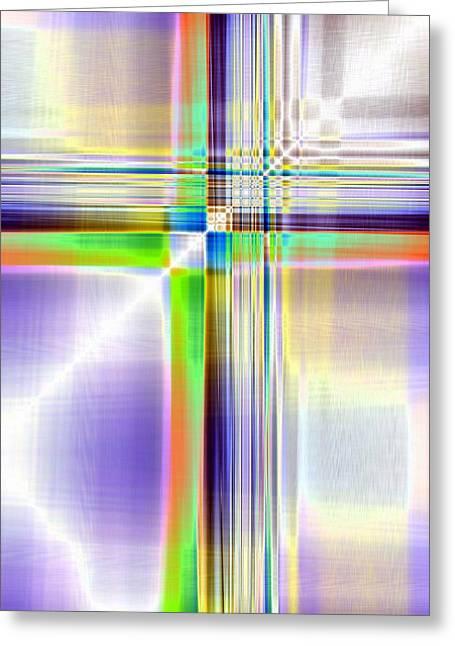 Crisscross Greeting Card by Tom Druin