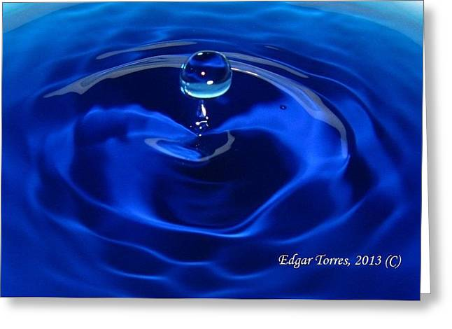 Cristal Blue Persuasion Greeting Card by Edgar Torres